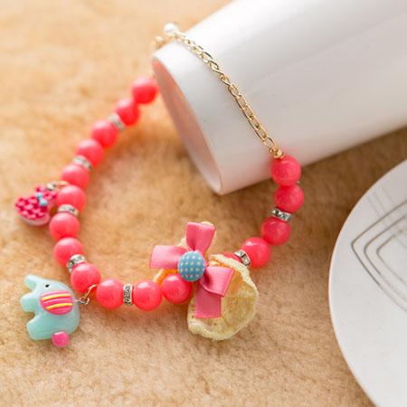 【小樂寵】粉桃可愛大象吊墜項鍊