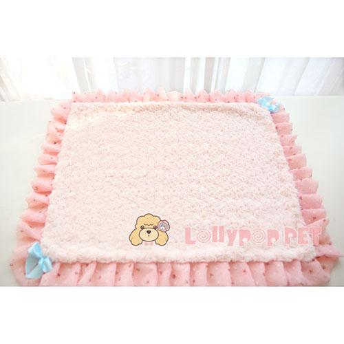 【小樂寵】雙面可用 雪紡滾邊玫瑰細絨毯/兩色
