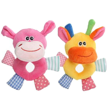 【小樂寵】拼貼動物甜甜圈發聲玩具.四款