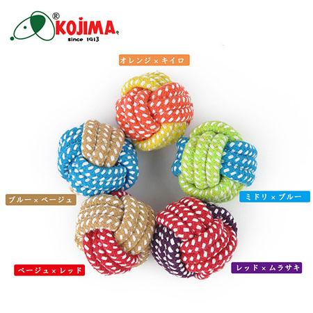 【小樂寵】Kojima 多彩編織球狀潔牙繩 S-M號