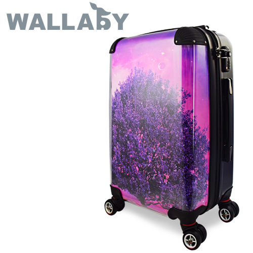 【JOHOYA】20吋-紫色奇幻樹可DIY換殼行李箱HTX-1525 *硬殼行李箱*MIT台灣製造