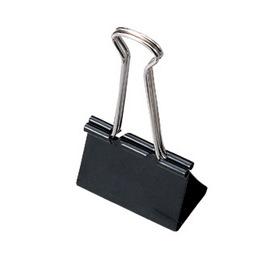 【SDI 】手牌 #0227 0227B 黑色長尾夾 (15mm)
