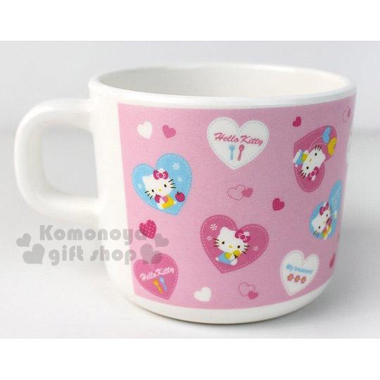 〔小禮堂〕Hello Kitty 美耐皿單手水杯《粉.愛心氣球》輕巧可愛