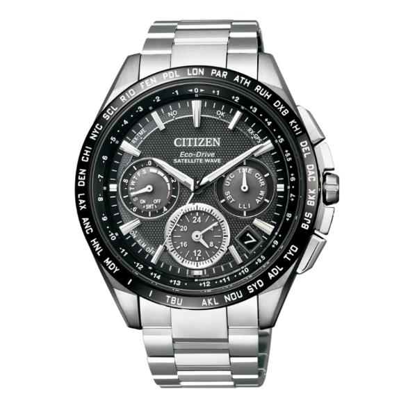 CITIZEN星辰CC9015-54E金城武廣告款鈦金屬GPS衛星對時光動能腕錶/黑面44mm