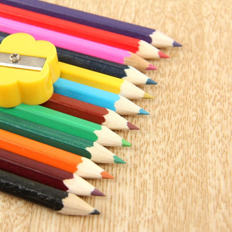 彩色鉛筆12色木頭鉛筆/學生色鉛筆29元【省錢博士】