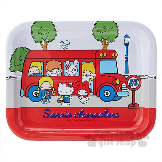 〔小禮堂〕Sanrio大集合 鋼質托盤《小.紅.公車》Sanrio70年代人物系列