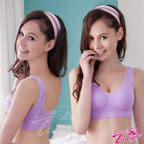 內衣胸罩運動內衣T-BRA背心上衣無痕隱形調整型無肩帶內衣運動衣-T3152-紫【情趣饗宴】