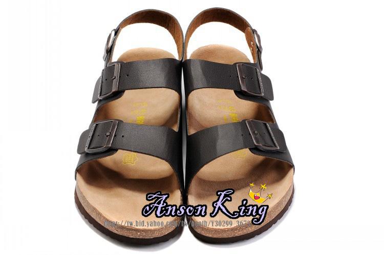 [Anson King]Outlet正品代購  birkenstock Milano系列 男女款 懶人涼拖鞋 黑色裂紋