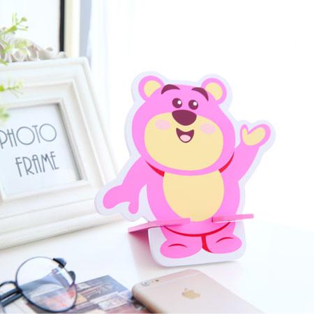 正版熊抱哥木質小化妝鏡 手機座 補妝鏡 鏡子 立鏡 造型鏡子 玩具總動員 迪士尼【B061344】