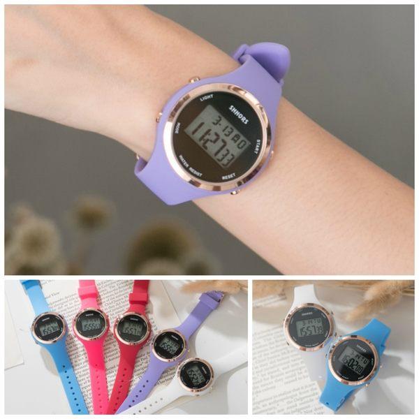 《好時光》SHHORS 馬卡龍色 繽紛亮色系 防水 電子錶  QQ錶帶 兒童錶 大女孩OK