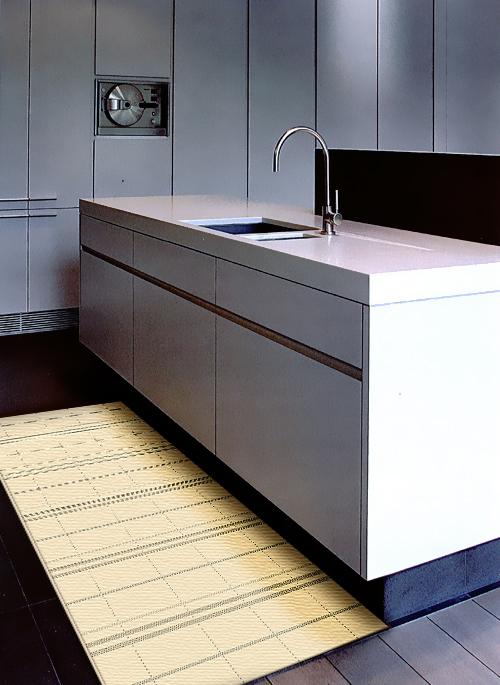 爵士南洋編織風類亞麻地毯-格局(米)-60x110cm