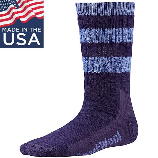 【鄉野情戶外專業】 Smartwool |美國| Striped Hike Medium Crew 兒童羊毛襪(厚)/美麗諾羊毛襪 兒童襪 雪襪-紫/SW0SW146