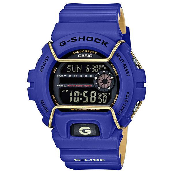 CASIO G-SHOCKGLS-6900-2A G-LIDE系列時尚運動腕錶/藍紫50mm