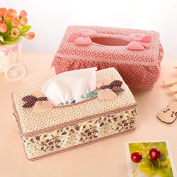歐式田園蕾絲拼布面紙盒 面紙盒 紙巾盒 (預購 7-14天)