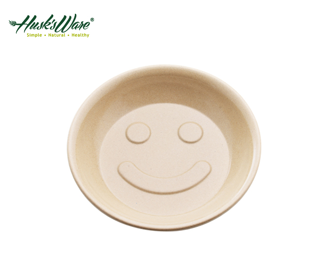 【淘氣寶寶】美國 Husk's ware 兒童微笑餐盤【稻殼纖維材質,安全實用 】【保證公司貨●品質有保證】