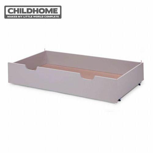 【安琪兒】比利時【Childhome】時尚設計款嬰兒床配件-收納抽屜(雅典灰)