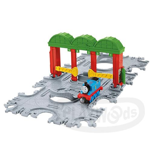 【Playwoods】[湯瑪士小火車]Take-n-play帶著走系列:Knapford火車站磁鐵軌道遊戲組Knapford Station Tile Tracks(費雪牌Fisher Price/Thomas&friends)