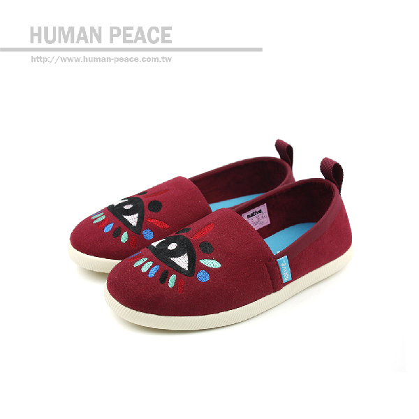 native VENICE EMBROIDERED CHILD 洞洞鞋 酒紅 小童 no372