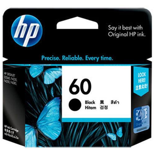 【HP 墨水匣】CC640WA/NO.60 原廠黑色墨水匣