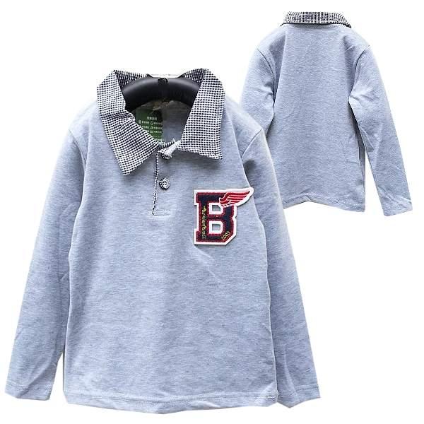 【班比納精品童裝】彈力紳士POLO衫棉襯衫-灰【BO150807028】