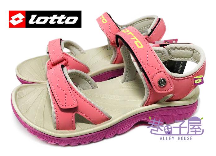 【巷子屋】義大利第一品牌-LOTTO樂得 女童跳色超輕量運動涼鞋 單足140g [2402] 粉 超值價$398