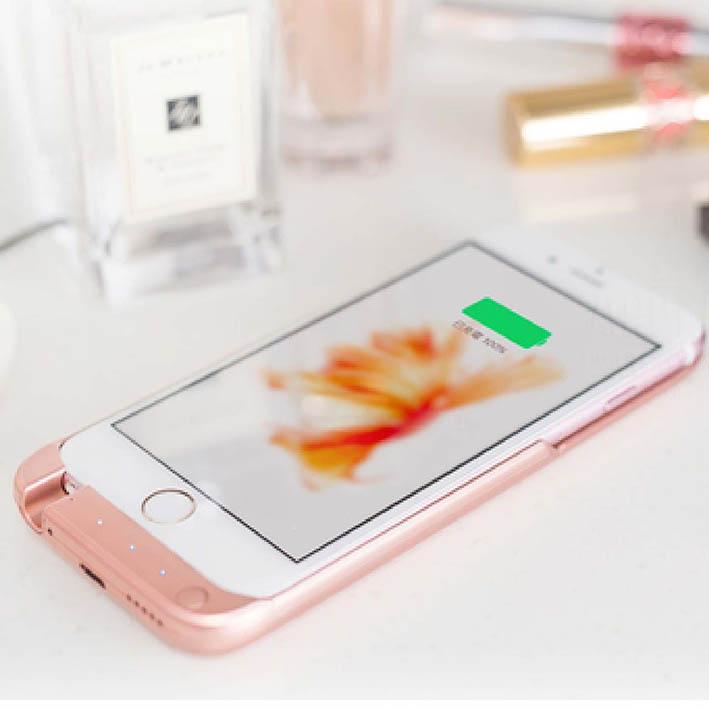 [APPLE]超薄充電背蓋10000mAh(5.5吋)[I6+,I6s+]時尚玫瑰金/情人節首選/移動電源/充電器/蘋果