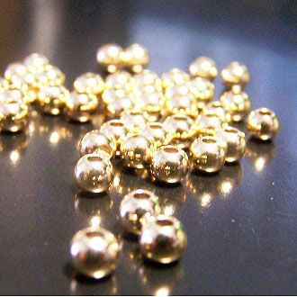 14K保色金珠 4mm DIY項鍊/手鏈圓珠配件