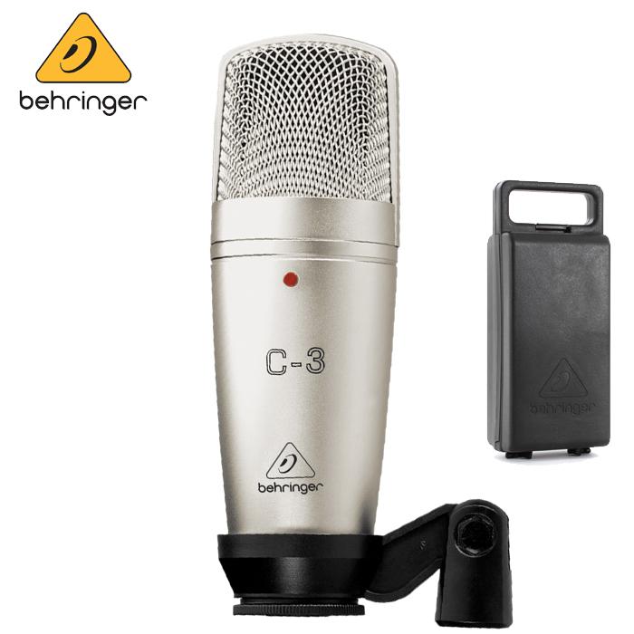 【非凡樂器】Behringer C-3 耳朵牌電容式麥克風【錄音室最佳首選/QR碼公司貨保固一年】