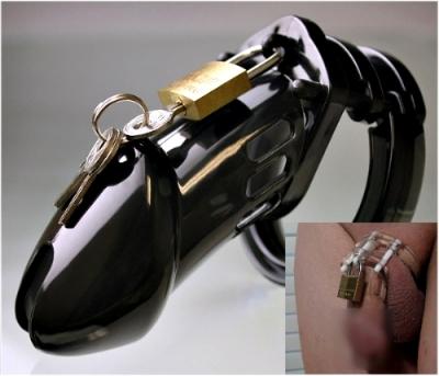 ■■iMake曖昧客■■ 原裝進口 男用貞操裝置 CB6000-黑色  (188508360)