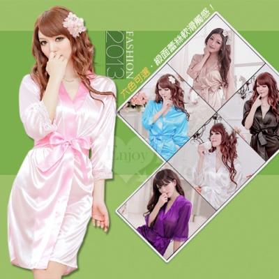 ■■iMake曖昧客■■  經典浪漫!柔緞和服睡袍﹝粉紅﹞ (18530722)