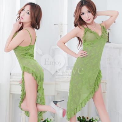 ■■iMake曖昧客■■風情萬種!側高開叉造型裙擺睡衣 (18535023)