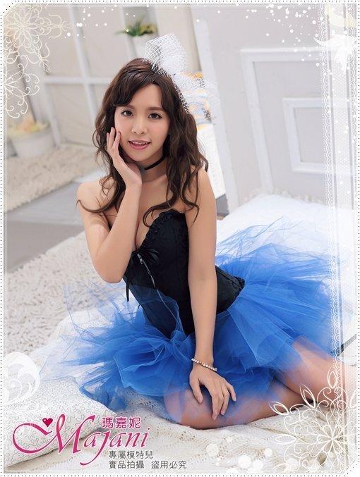 [瑪嘉妮Majani]日系中大尺碼-甜美澎澎裙 蓬蓬裙 舞台表演 尾牙 A款(寶藍色)特價389 可超取