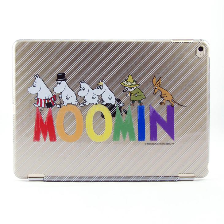 Moomin 嚕嚕米正版授權 -【 Happy Family(灰) 】:《 iPad Mini/Air/Pro 》水晶殼+Smart Cover(磁桿)