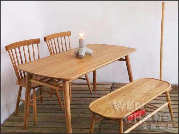 *文昌家具* 北欧 丹麦旧货 乡村风格 100%北美白橡木 温莎椅 实木餐椅