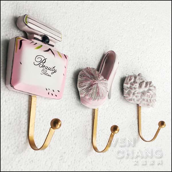 浪漫 粉紅高跟鞋造型掛勾 衣架 三個一組 適合服飾店 美甲店 住宅 Z27-C 《特價》 *文昌家具*