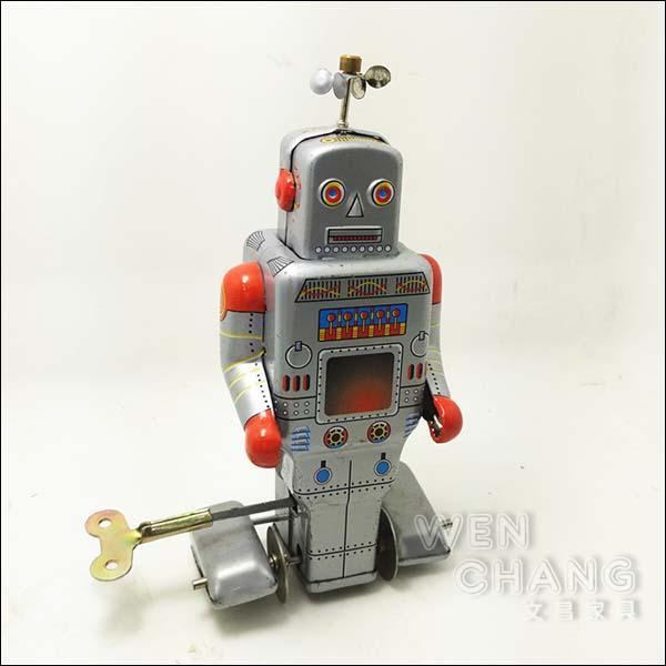 復古工業風 3~40年代 懷舊 發條 天線 鐵皮機器人B款  Z29 *文昌家具*