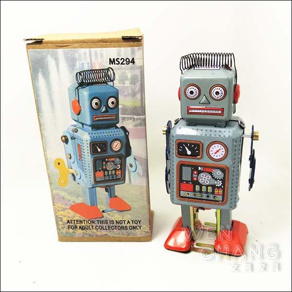 復古工業風 3~40年代 懷舊 鐵皮機器人D款  Z31 *文昌家具*