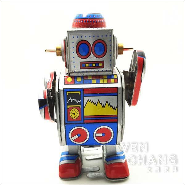 復古工業風 3~40年代 懷舊 發條 鐵皮機器人E款  Z32 *文昌家具*