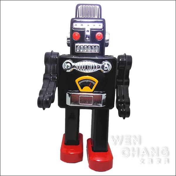 復古工業風 3~40年代 懷舊 發條 鐵皮機器人A款 黑色 Z28-BK *文昌家具*