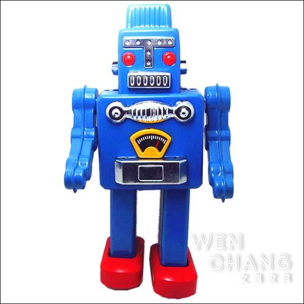復古工業風 3~40年代 懷舊 發條 巨人鐵皮機器人A款 藍色 Z28-BL *文昌家具*