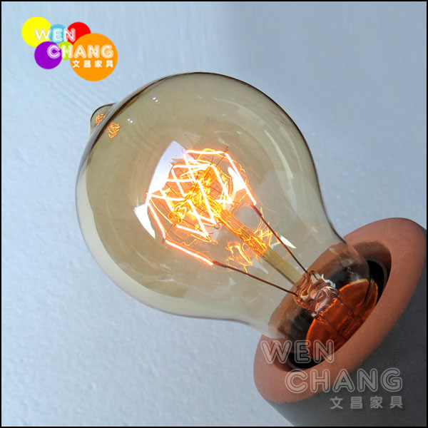 *文昌家具*燈 工業 loft 風 愛迪生40W 110V E27 水滴型 花火 捲絲 復古燈泡 Edison bulb LBU-003 *特價*