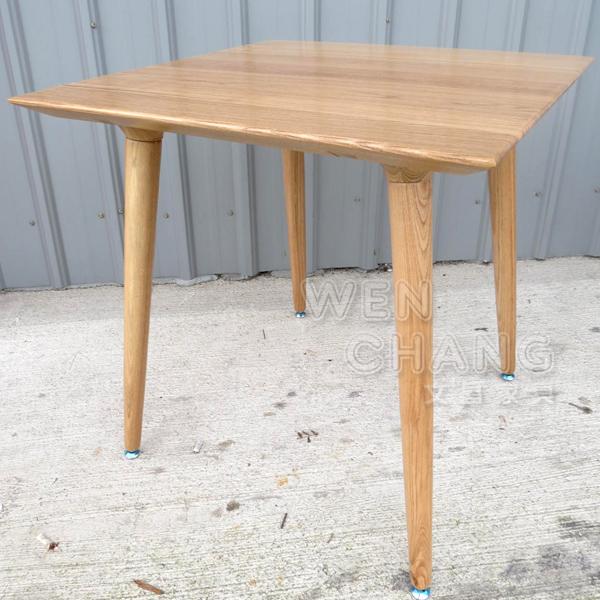 *文昌家具*丹麥北歐風 全實木 方形 四腳 UFO 餐桌 洽談桌 70 方桌 TB012