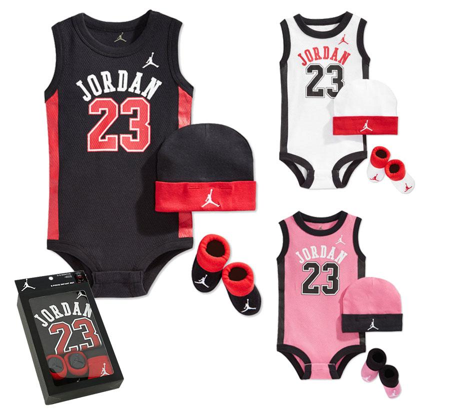 《★美國NIKE Jordan新生兒禮盒組三件入 》背號23籃球背心款 預購款彌月禮盒 滿月禮首選 三色可選  美國專櫃正品購回