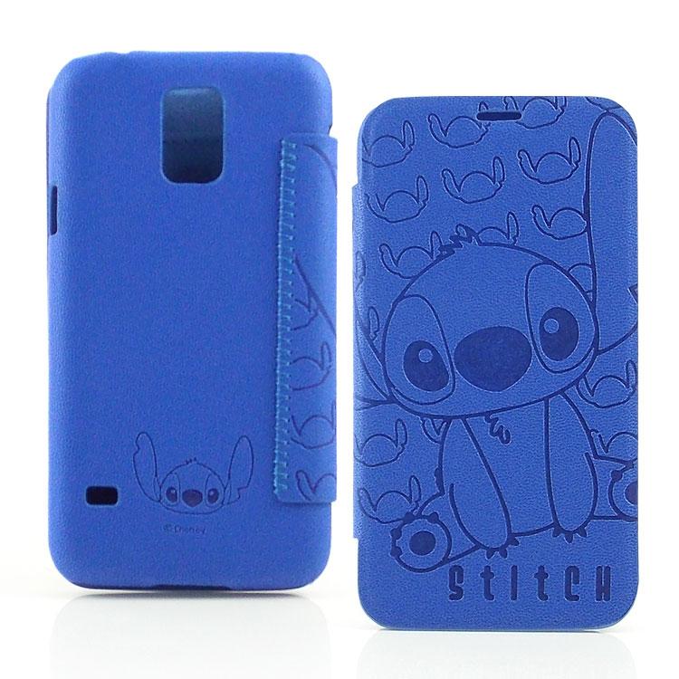 【Disney 】Samsung Galaxy S5 Stitch史迪奇時尚壓紋皮套