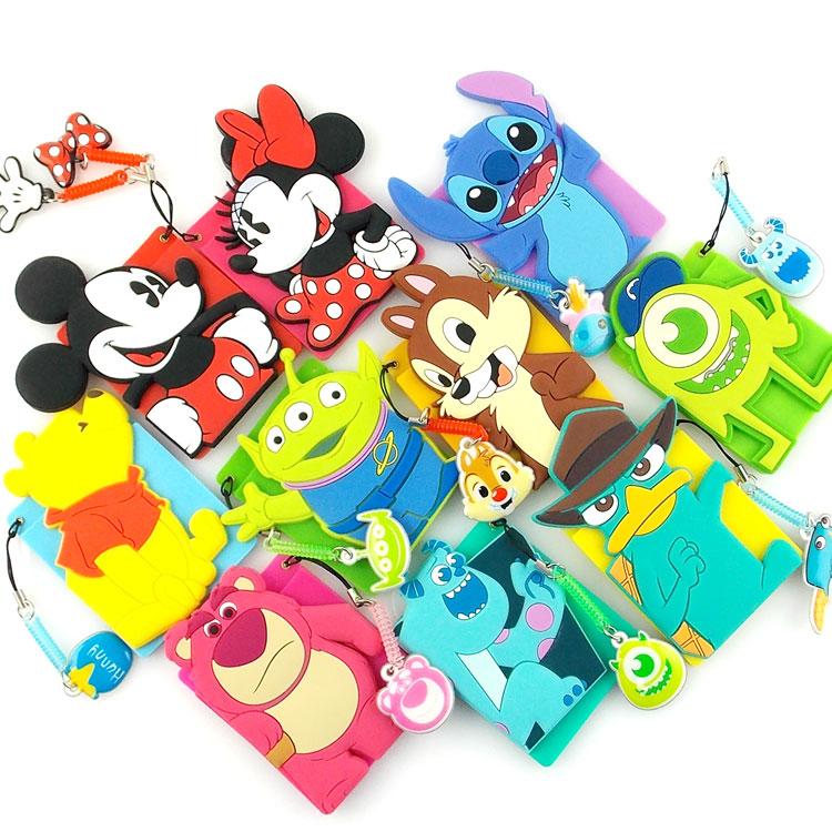【Disney】 可愛人物造型繽紛卡夾手機背貼-米奇/米妮
