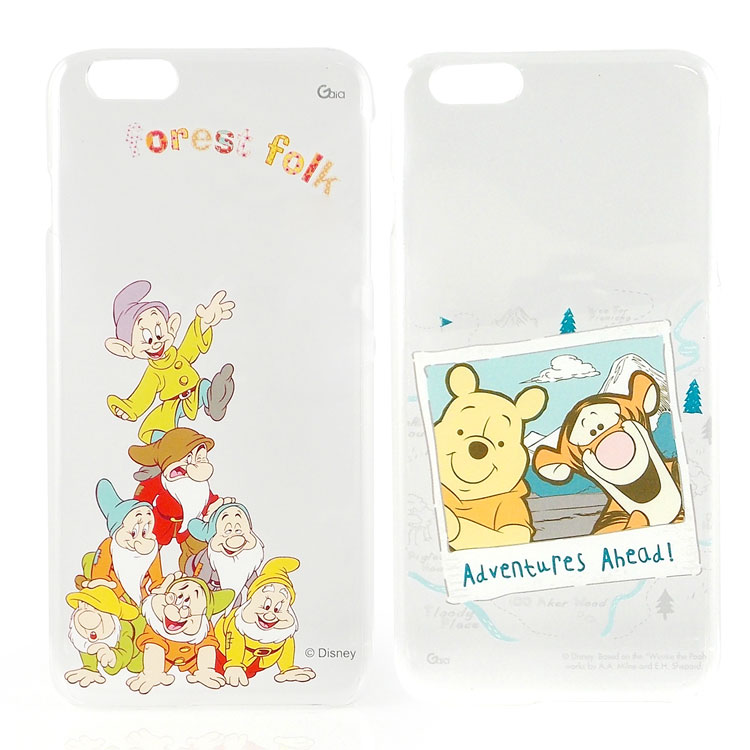 【Disney 】iPhone 6 plus 彩繪可愛風透明保護硬殼-七矮人/旅行維尼