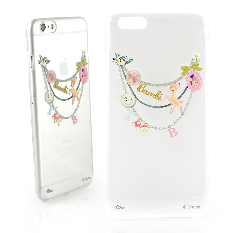 【Disney 】iPhone 6 plus 彩繪現代風透明保護硬殼-手鍊斑比
