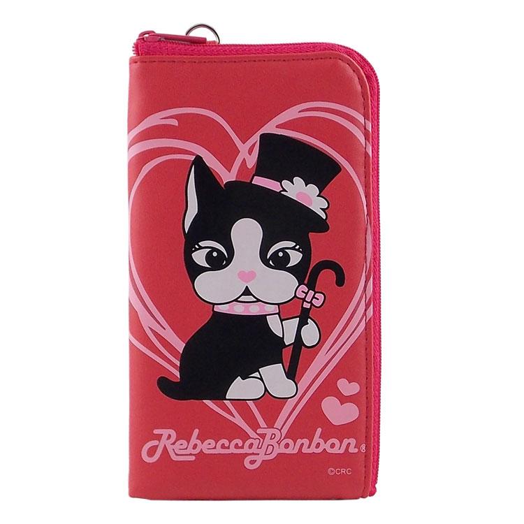 Rebecca Bonbon 5.3吋通用時尚系列皮革手機L包-爵士甜心