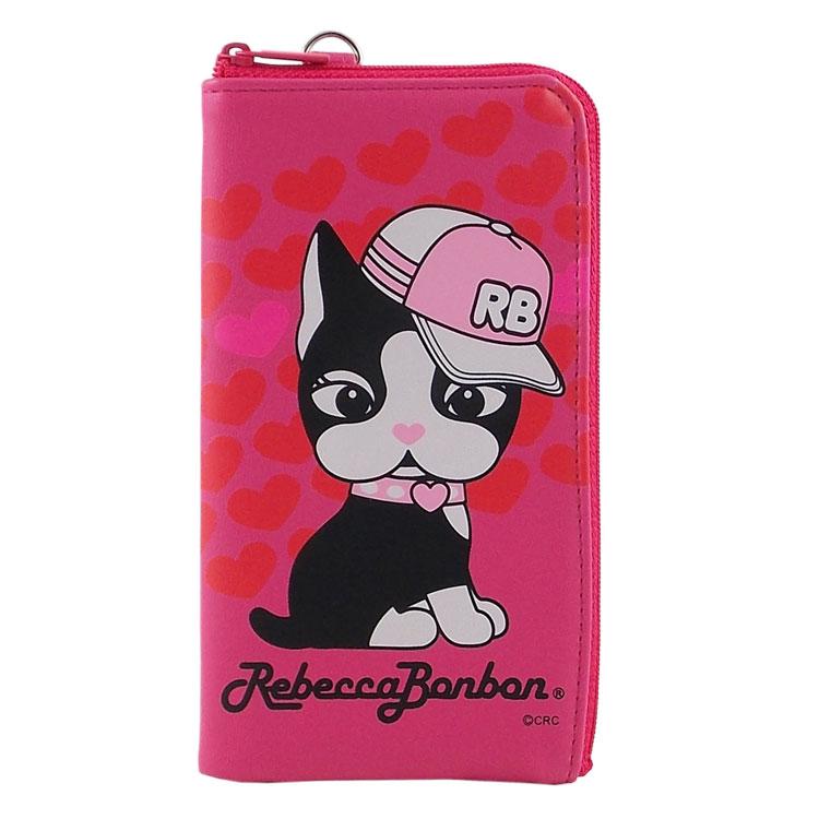 Rebecca Bonbon 5.3吋通用時尚系列皮革手機L包-嘻哈甜心