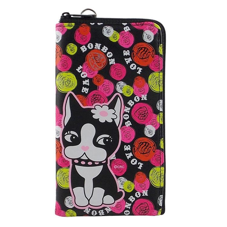 Rebecca Bonbon 5.3吋通用繽紛系列皮革手機L包-甜點泡泡